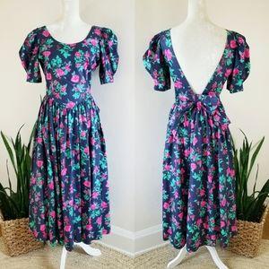 VTG 80s Laura Ashley Floral Party Dress